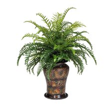 Artificial Sword Fern Floor Plant in Planter