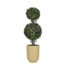 Artificial Double Boxwood Ball Topiary in Planter