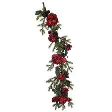 Artificial Peony / Hydrangea / Berry / Pine Garland