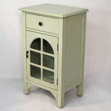 Wooden Cabinet with Glass Insert