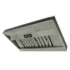 "Premium 36"" 750 CFM Built-in Single Blower Range Hood"