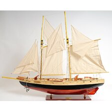 Medium Bluenose Ii Painted Model Boat