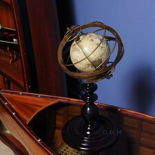 Globe in Brass Rings