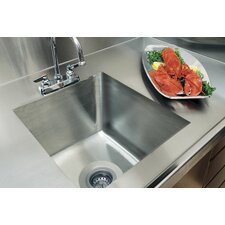 "<strong>A-Line by Advance Tabco</strong> 20"" x 16"" Integral Single Bowl Kitchen Sink"