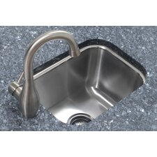 "12.5"" x 16.5"" Single Bowl Undermount Prep Kitchen Sink"