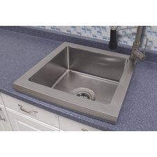 "21"" x 21"" Raised Deck Kitchen Sink"