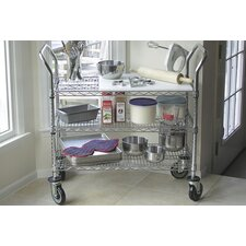 "38"" Wire Shelf Utility Cart"