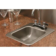 "14"" X 12"" Single Bowl Drop-In Kitchen Sink"