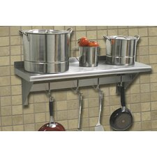 <strong>A-Line by Advance Tabco</strong> Stainless Steel Wall Mounted Shelf with Pot Rack Bar