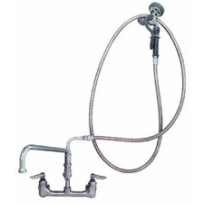 Wall Mounted Pre-Rinse Utility Sink Faucet