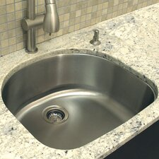 "23.75"" x 21.25"" Single Bowl Undermount Kitchen Sink"