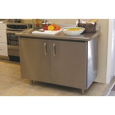 <strong>A-Line by Advance Tabco</strong> Professional Chef Kitchen Island with Stainless Steel Top