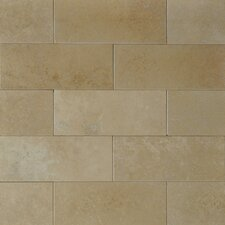 "8"" x 3"" Travertine Tile in Tierra Blanca H/F"