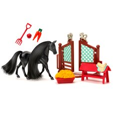 Horse Play Black Friesian Stallion Primped and Pretty Horse Grooming Set