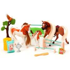 Horse Play Palomino and Paint Family Champions Horse Set