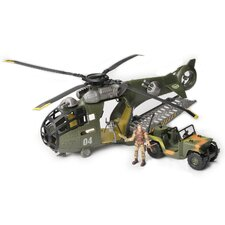 Corps 3-Piece Total Soldier Flying Fortress Transport Helicopter Play Set