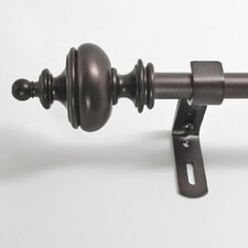 Urn Curtain Rod and Hardware Set