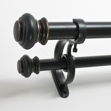 Urn Double Curtain Rod and Hardware Set