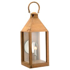 Wood Electric Lantern