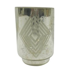 Small Square Diamond Frost Hurricane/Vase