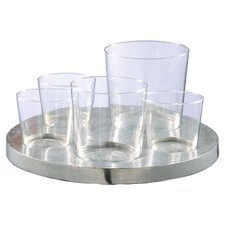 5 Piece Glass Votive Set
