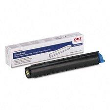 43640301 OEM Toner Cartridge, 1500 Page Yield, Black