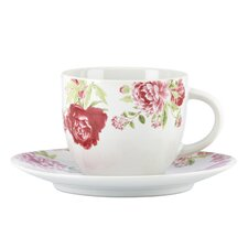 Blossoming Rose Cup and Saucer