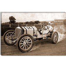 <strong>iCanvasArt</strong> Vintage Race Car Canvas Wall Art