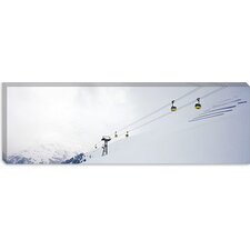 <strong>iCanvasArt</strong> Ski Lifts in a Ski Resort, Arlberg, St. Anton, Austria Canvas Wall Art