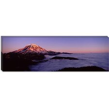 Sea of Clouds with Mountains in the Background, Mount Rainier, Pierce County, Washington State Canvas Wall Art
