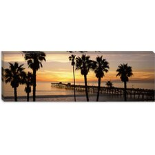 <strong>iCanvasArt</strong> San Clemente Pier, Los Angeles County, California Canvas Wall Art