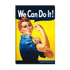 "<strong>iCanvasArt</strong> ""We Can Do It! (Rosie the Riveter)"" Poster by J. Howard Miller"