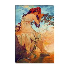 """Summer"" Canvas Wall Art by Alphonse Mucha"