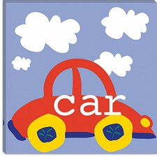 "<strong>iCanvasArt</strong> ""Red Car"" Canvas Wall Art by Erin Clark"