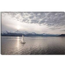 "<strong>iCanvasArt</strong> ""Sailing at Sunset, Alaska '09"" Canvas Wall Art by Monte Nagler"