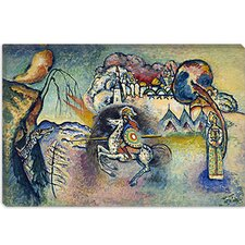 """Saint George Rider and the Dragon"" Canvas Wall Art by Wassily Kandinsky Prints"