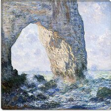 """Rock Arch West of Etretat (The Manneport)"" Canvas Wall Art by Claude Monet"