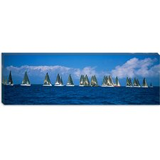 Farr 40's race during Key West Race Week, Key West, Florida Canvas Wall Art