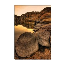 "<strong>iCanvasArt</strong> ""Rockline"" Canvas Wall Art by Bob Larson"