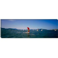 <strong>iCanvasArt</strong> Sailboats in the Water, San Francisco Bay, California Canvas Wall Art