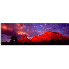 <strong>iCanvasArt</strong> Rocks at Sunset Sedona, Arizona Canvas Wall Art