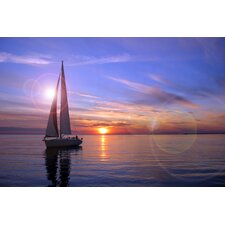 Sailboat Photographic Print on Canvas in Multi-Color