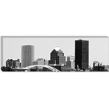 <strong>iCanvasArt</strong> Rochester Panoramic Skyline Cityscape Canvas Wall Art