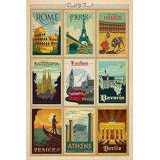 Europe Collection by Anderson Design on Canvas