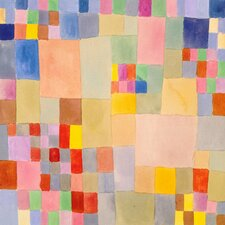 Panoramic Flora on the Sand by Paul Klee Graphic Art on Canvas