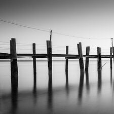China Camp Pano, by Moises Levy Part 1 of 3 Photographic Print on Canvas in Black / White