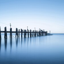 China Camp Pano, by Moises Levy Part 2 of 3 Photographic Print on Canvas  in Blue