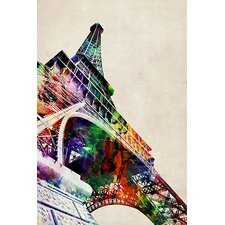 'Eiffel Tower Watercolor' by Michael Tompsett Graphic Art on Canvas