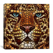'Leopard' by Ben Heine Graphic Art on Canvas