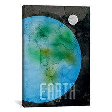 'The Planet Earth' by Michael Thompsett Graphic Art on Canvas